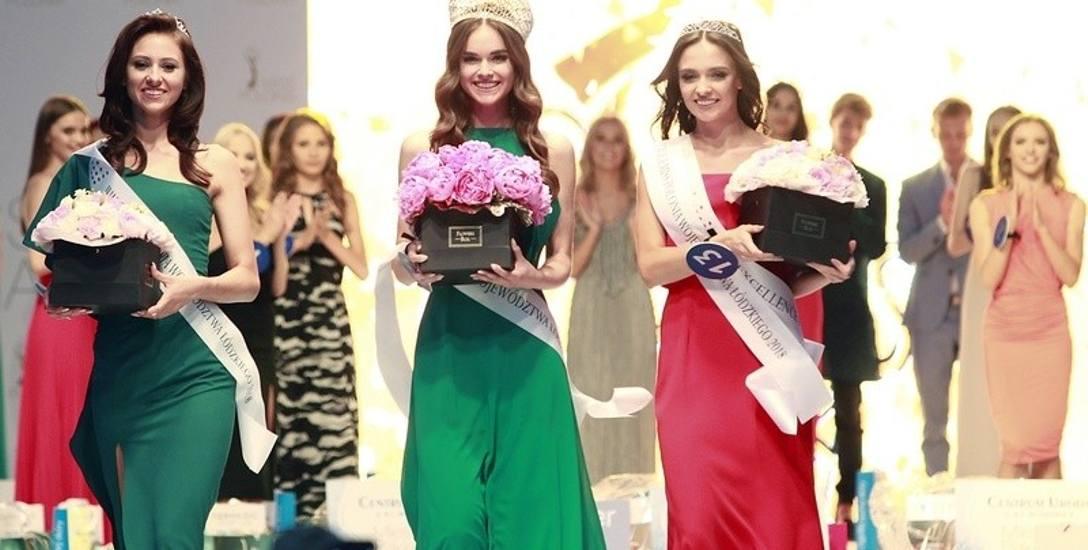 Kandydatki do tytułu Miss Polonia z Łódzkiego. Od lewej: Magdalena Czech, Natalia Zawiślak i Patrycja Woźniak. Zdjęcia z gali wyborów Miss Polonia Województwa