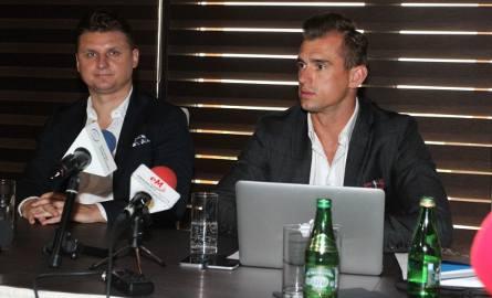 Jakub Meresiński (z prawej) i Marek Citko to nowi właściciele Wisły Kraków.