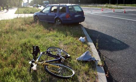 Na Trasie Północnej w Zielonej Górze auto potrąciło rowerzystę. Mężczyzna zmarł w szpitalu.