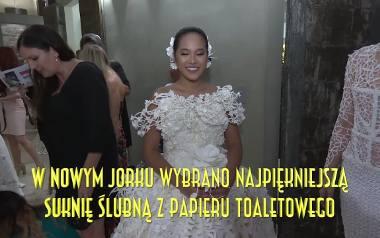 Oto najpiękniejsze suknie z… papieru toaletowego!