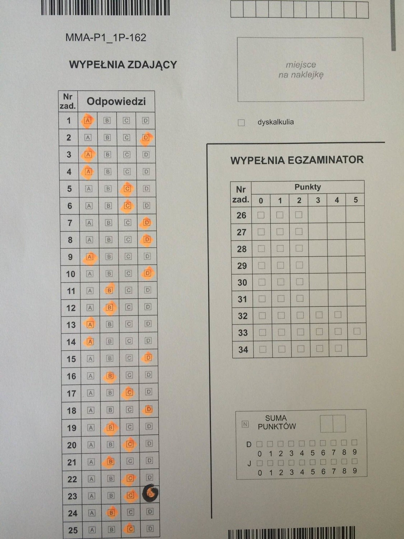 matura matematyka 2012 odpowiedzi cke