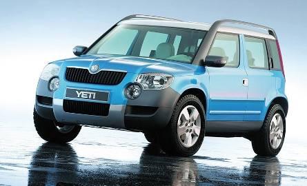 Kolejny tzw. miejski SUV. To kolejny dowód na rozwój czeskiej marki. Yeti bazuje na platformie modelu Roomster. Na rynek wejdzie w październiku.