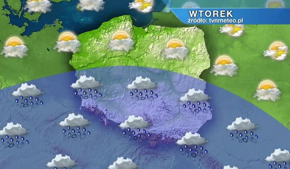 Film do artykułu: Pogoda na wtorek, 29 września. Wtorek pogodny na północy. Nad resztą kraju opady deszczu