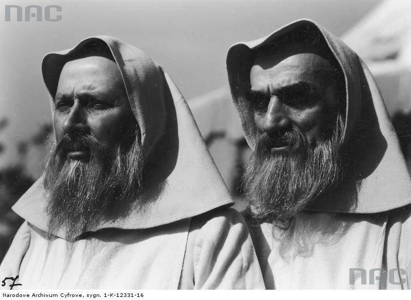 """Aktorzy na planie filmu """"Przeor Kordecki - obrońca Częstochowy"""", 1934 rok"""