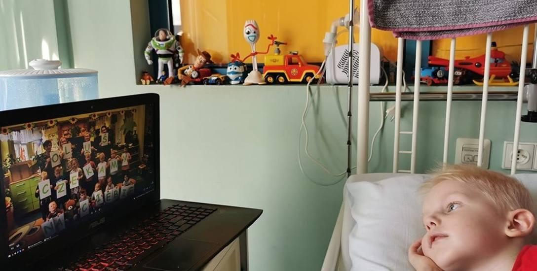 Oluś w szpitalu w Toruniu wraca do zdrowia.