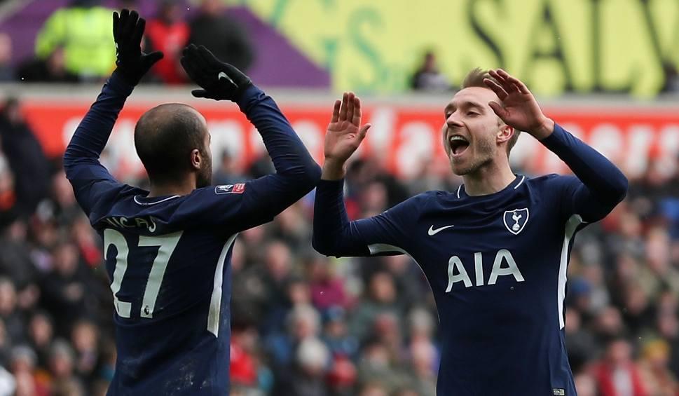 """b5c1e6d01 Puchar Anglii. Swansea bez szans z atakującymi Tottenhamu. """"Koguty ..."""