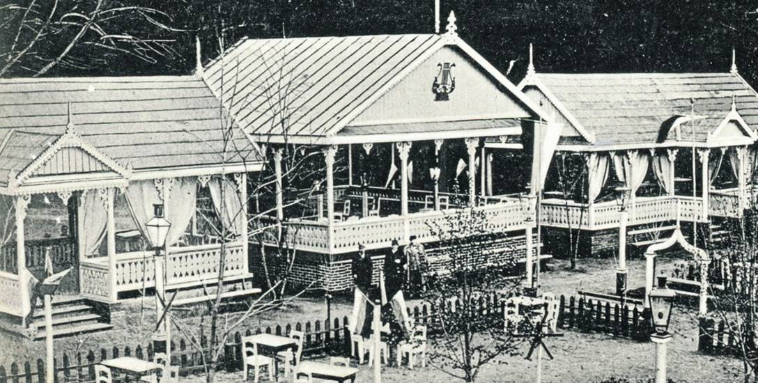 Rozkosz w Zwierzyńcu około 1910 roku. Ulubione przez białostoczan miejsce rozrywki i pijackich brewerii.