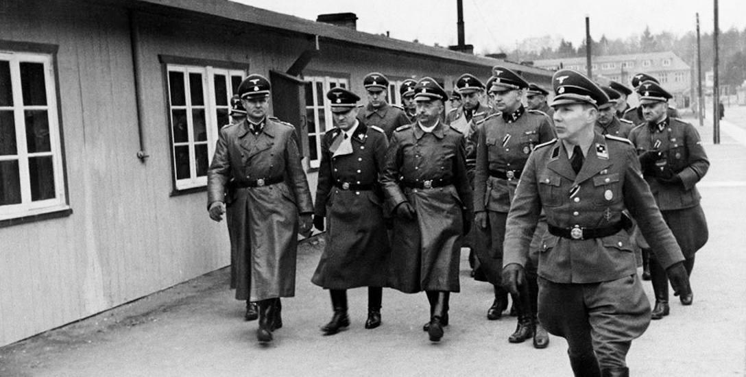 Heinrich Himmler w czasie inspekcji KL Stutthof jesienią 1941 roku