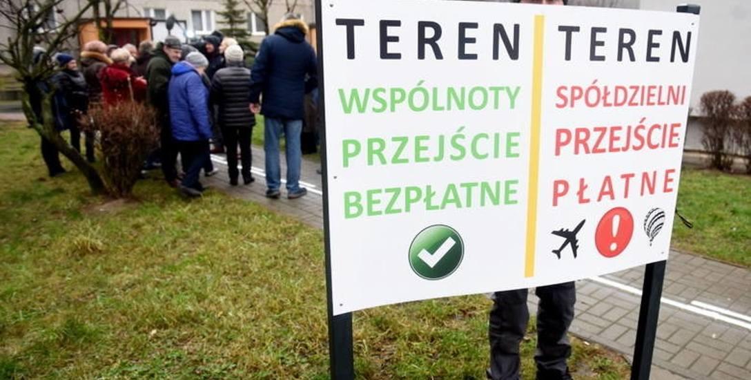 Protest mieszkańców os. Pomorskiego