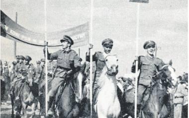 1949 rok. Ogólnopolskie uroczystości dożynkowe na Psim Polu we Wrocławiu