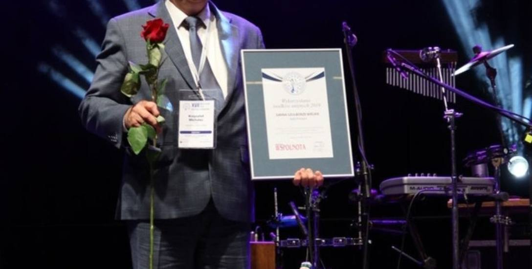 Wójt Krzysztof Michalec odebrał pamiątkowe wyróżnienie podczas Samorządowego Forum Kapitału i Finansów w Katowicach