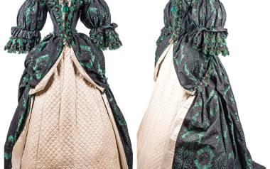 Suknia wystawiona na aukcję w Trójmieście pochodzi z lat 60. XIX wieku