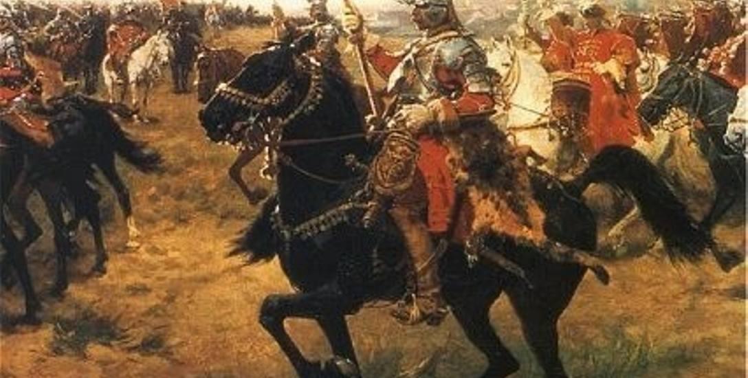 Husaria podczas parady w 1605 roku w Krakowie przedstawiona na Rulonie polskim