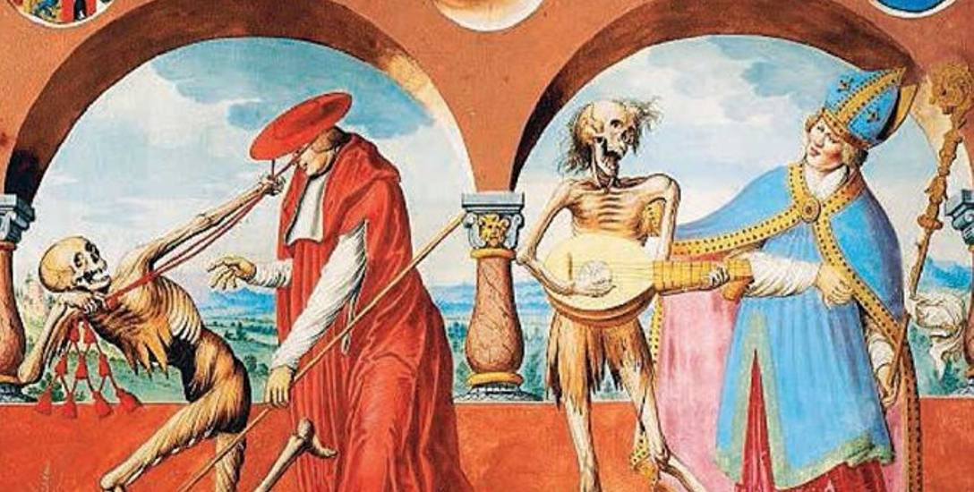Śmierć, Biskup i Kardynał - fragment jednego z tańców śmierci
