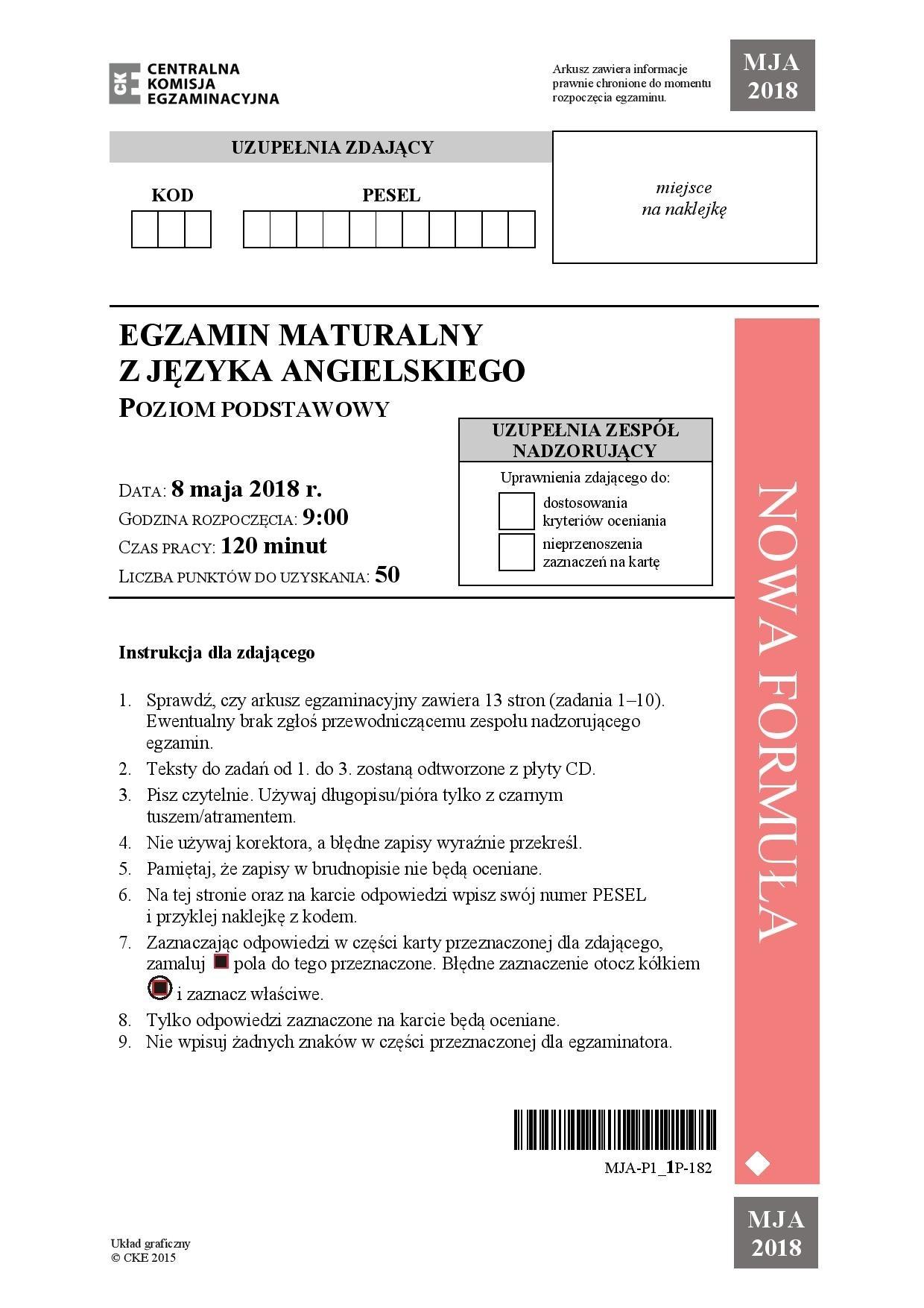 matura z angielskiego rozszerzona 2021 odpowiedzi
