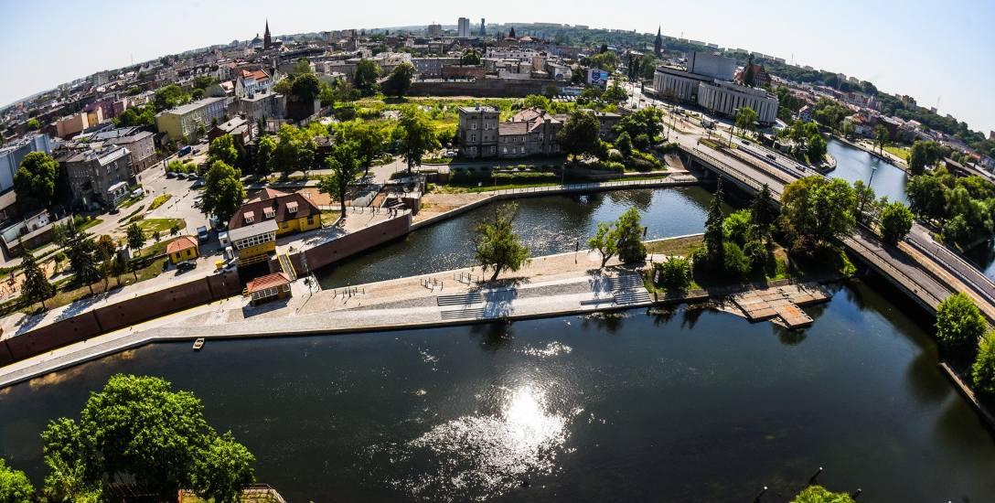 Oto widok z jednego z najdroższych apartamentowców w Bydgoszczy - Nordic Haven.