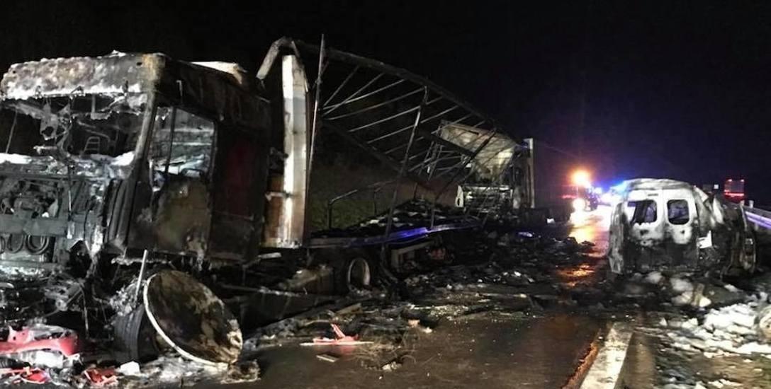 Tragiczny wypadek i pożar w Mykanowie
