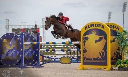 Laura Kłapińska na koniu Santiago