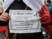 Protest handlowców w Warszawie