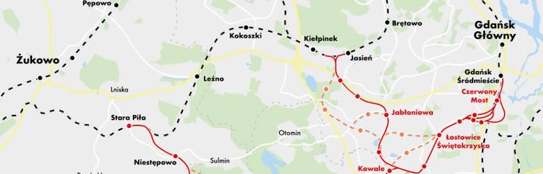 Powstanie nowa linia PKM. Do 2035 roku będzie można pojechać koleją z centrum Gdańska do południowych dzielnic