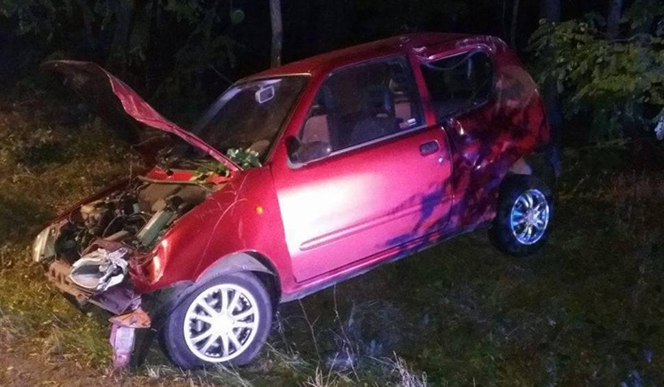 Film do artykułu: Wypadek koło Dąbia. Samochód uderzył w drzewo. Kobieta w szpitalu