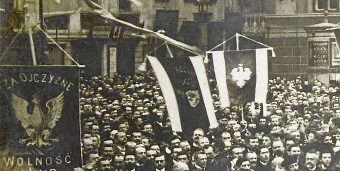 Manifestacja patriotyczna w Warszawie, listopad 1918 r.