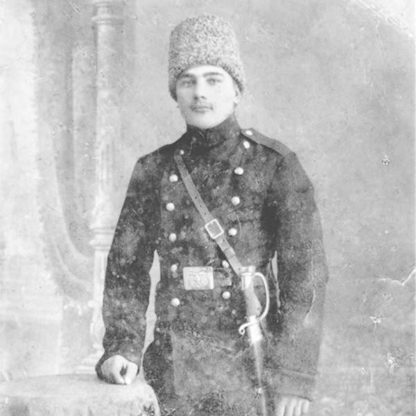 Jan Poleszak w mundurze armii carskiej.