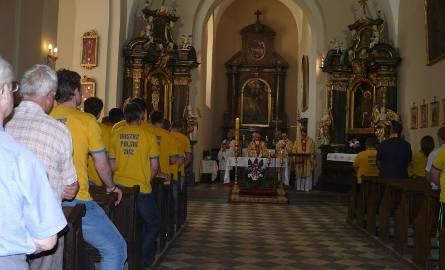 Msza święta w klasztorze na Karczówce