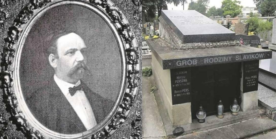 Doktor Karol Slavik z Czech wżenił się w sądecką rodzinę  hrabiego Maurycego Brunickiego z Pisarzowej. W latach 1889-1894 był burmistrzem Nowego Sąc