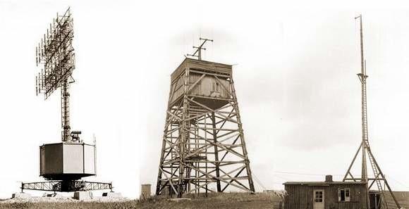 Tak wyglądały maszty stacji radarowych. Były zamontowane na polach pod Górą św. Anny, które dziś przecina autostrada A4.