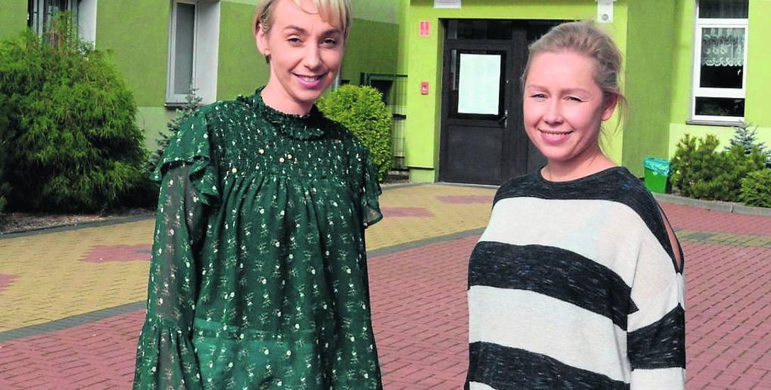 Joanna Pedrycz - nauczycielka języka angielskiego i Katarzyna Kuźniewicz -  nauczycielka matematyki i  informatyki