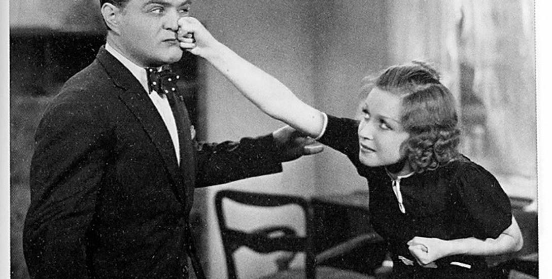 """Kadr z filmu """"Niedorajda"""" z 1937 roku. Tu nasza aktorka towarzyszyła Adolfowi Dymszy."""