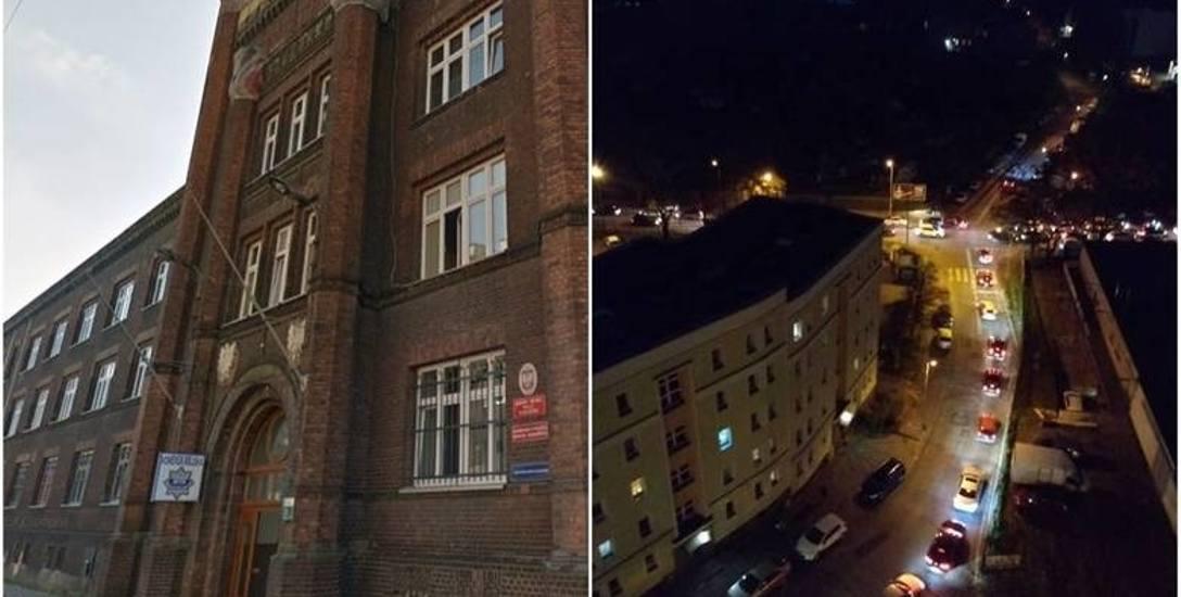 Kulisy piątkowego armagedonu na ulicach Szczecina. Miasto zablokowane, bo z komisariatu uciekł podejrzany