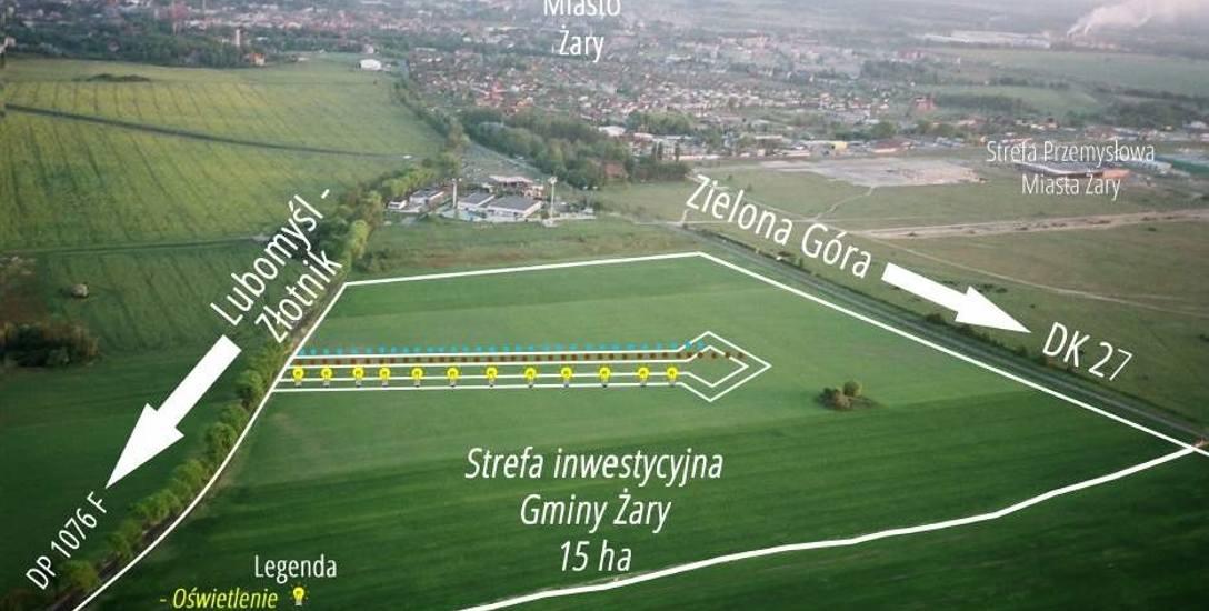 W gminnej strefie jest 10 działek o wielkości od 20 arów do  3,5 ha.