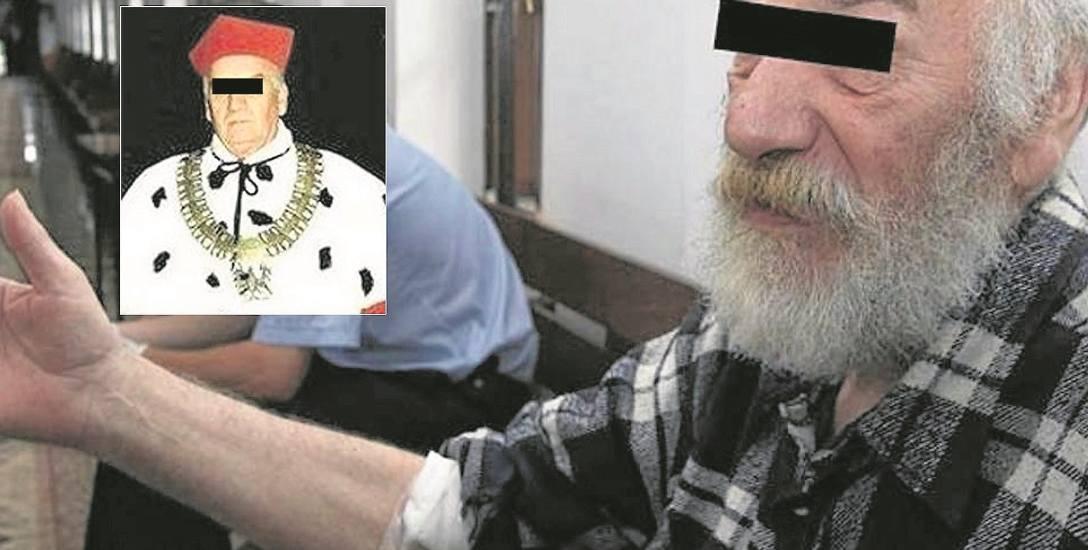 Antoni J. (także na małym zdjęciu - jeszcze  jako rektor) przed sądem zaprzeczał  zarzutom i przekonywał, że padł ofiarą spisku osób, które chcą go