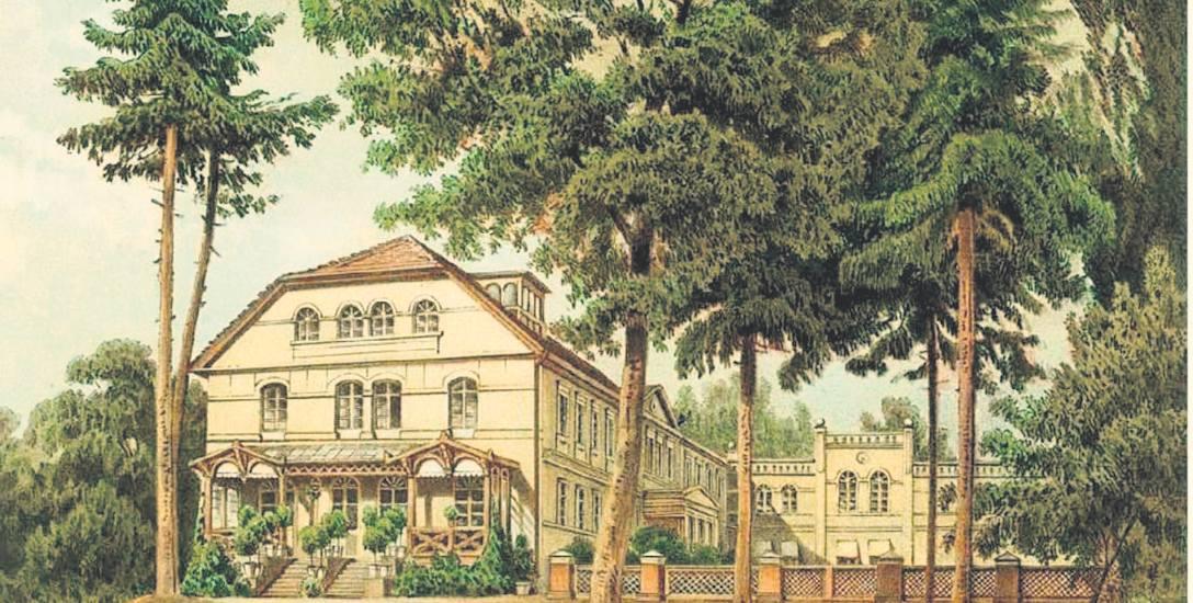 Pałace powiatu sławieńskiego  na litografiach Alexandra Dunckera