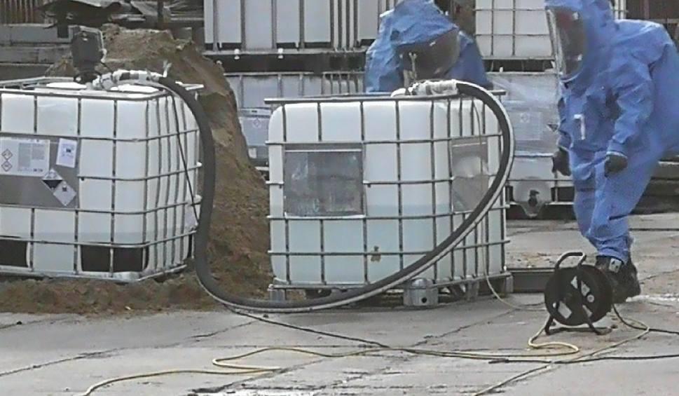 Film do artykułu: Pruszcz Gdański: Wyciek trującego i silnie żrącego kwasu w jednej z pruszczańskich firm. Ewakuacja 71 osób