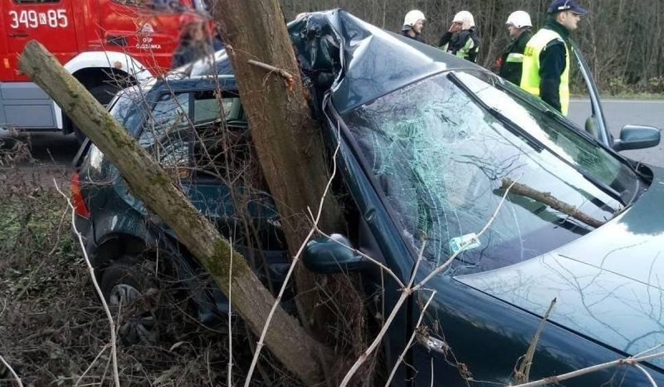 Film do artykułu: Olszanka. Kobieta kierująca volkswagenem cudem ocalała z wypadku