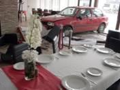 Pijany kierowca wjechał w hotelową restaurację przy ul. Szczecińskiej!