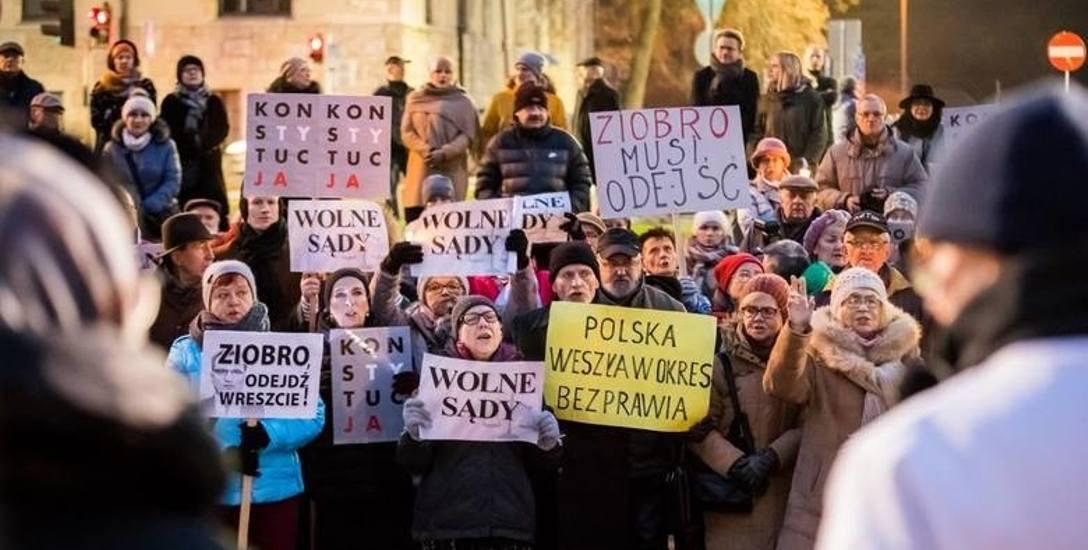 Również w Bydgoszczy w grudniu i styczniu odbywały się manifestacje w obronie niezależności sądownictwa