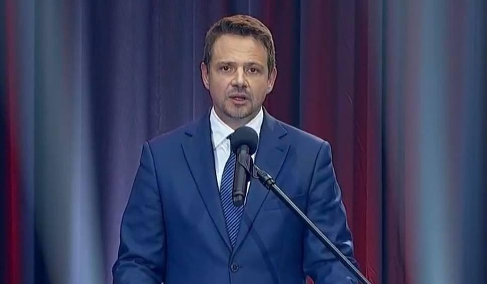 Film do artykułu: Arena prezydencka. Rafał Trzaskowski odpowiadał na pytania dziennikarzy w Lesznie. Prezydenta Dudy nie było