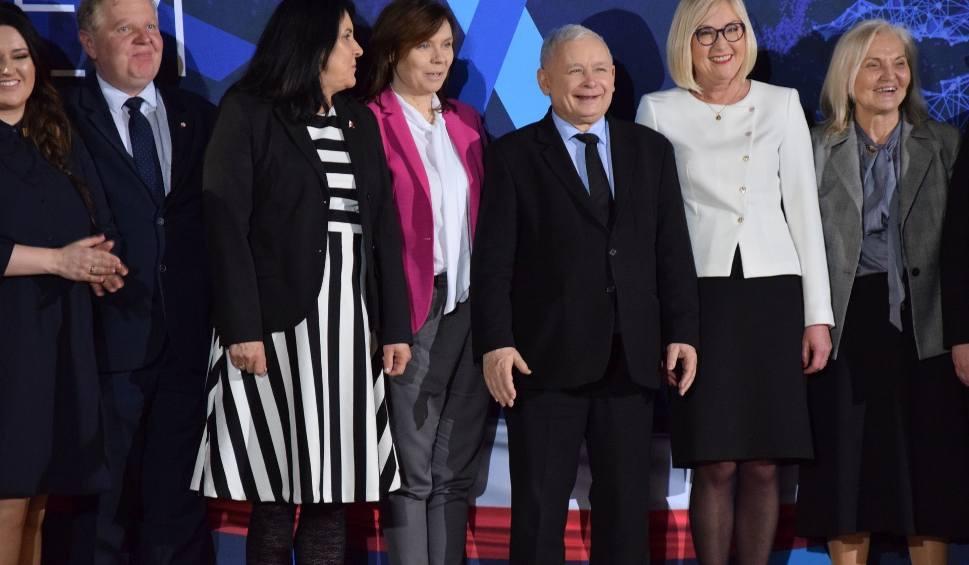 """Film do artykułu: Jarosław Kaczyński w Wieluniu: """"Wybory do europarlamentu mają wielkie znaczenie"""" [ZDJĘCIA, WIDEO]"""