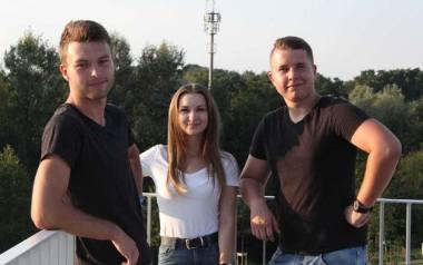 Od lewej: Mateusz Żaba, Dominika Sysło i Adam Białecki
