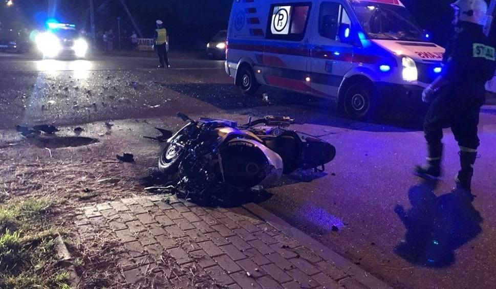 Film do artykułu: Dobrzyniewo Duże. Wypadek motocyklisty (zdjęcia)