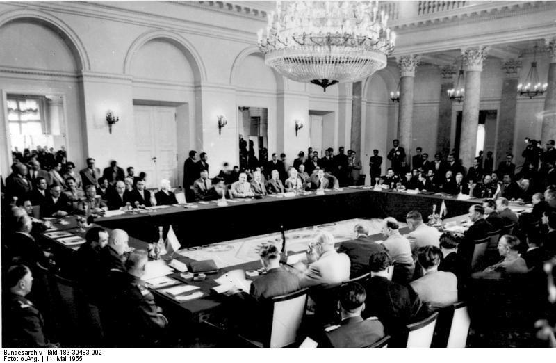 Konferencja państw sygnatariuszy Układu Warszawskiego w maju 1955