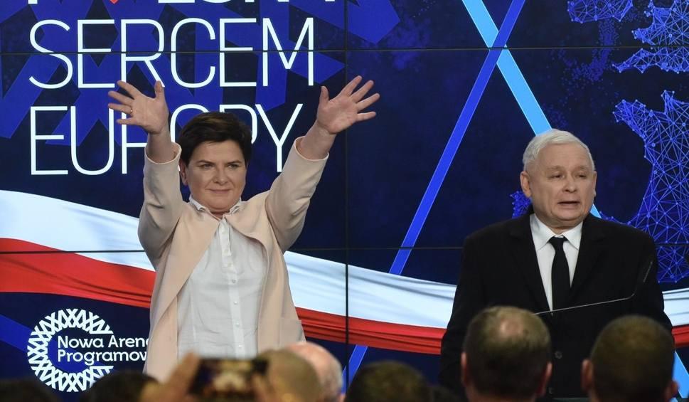 Film do artykułu: Wybory do Parlamentu Europejskiego 2019. W sztabie PiS radość jeszcze przed ogłoszeniem wyników exit poll
