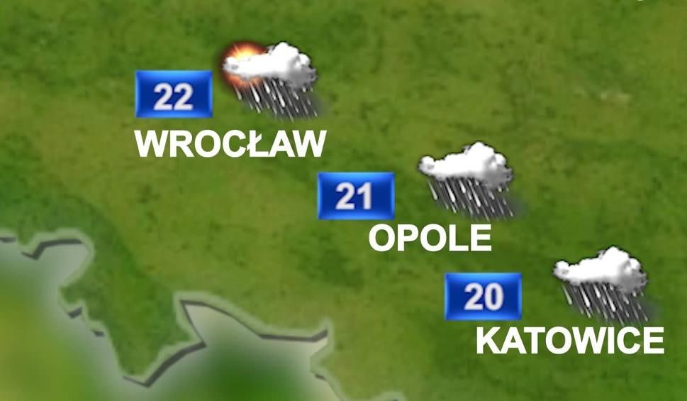 Film do artykułu: Prognoza pogody na 19 sierpnia: dziś chmury, deszcz i burze WIDEO