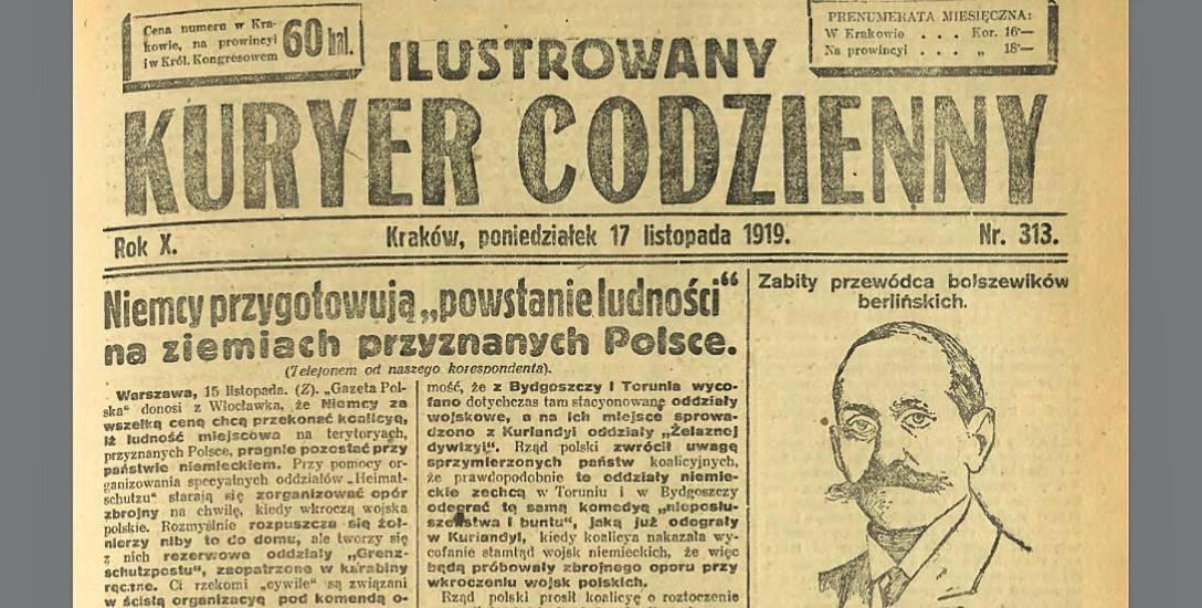 """""""Niemcy za wszelką cenę chcą przekonać koalicyę, iż ludność miejscowa na terytoriach przyznanych Polsce pragnie pozostać przy państwie niemieckim..."""