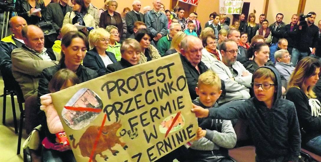 Wrześniowe spotkanie protestacyjne w świetlicy w Czerninie