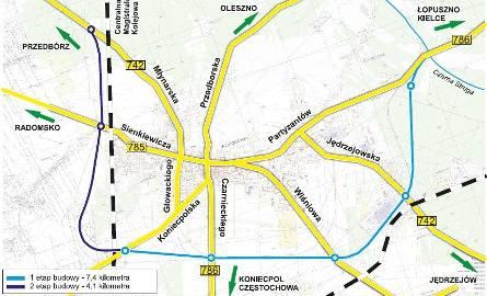 Brakuje sporo pieniędzy na budowę pierwszego etapu obwodnicy Włoszczowy o długości około 8 kilometrów. Czy zostanie skrócony?